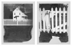 Two Polaroids of Heceta light keeper house on Oregon Coast.