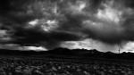 Stormy landscape scene in Nevada.